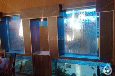 آبنمای شیشه ای رستوران سعادت تهران