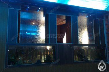 آبنما شیشه ای رستوران سعادت